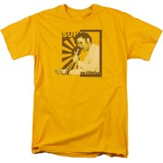 Sun - Sun Records Slvis On The Mic - Short Sleeve Shirt - Small