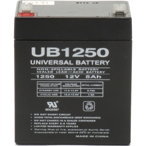 Premium Power Products UPS Battery Pack - 5000 mAh - 12 V DC - Sealed Lead Acid - 5 Hour Recharge Time