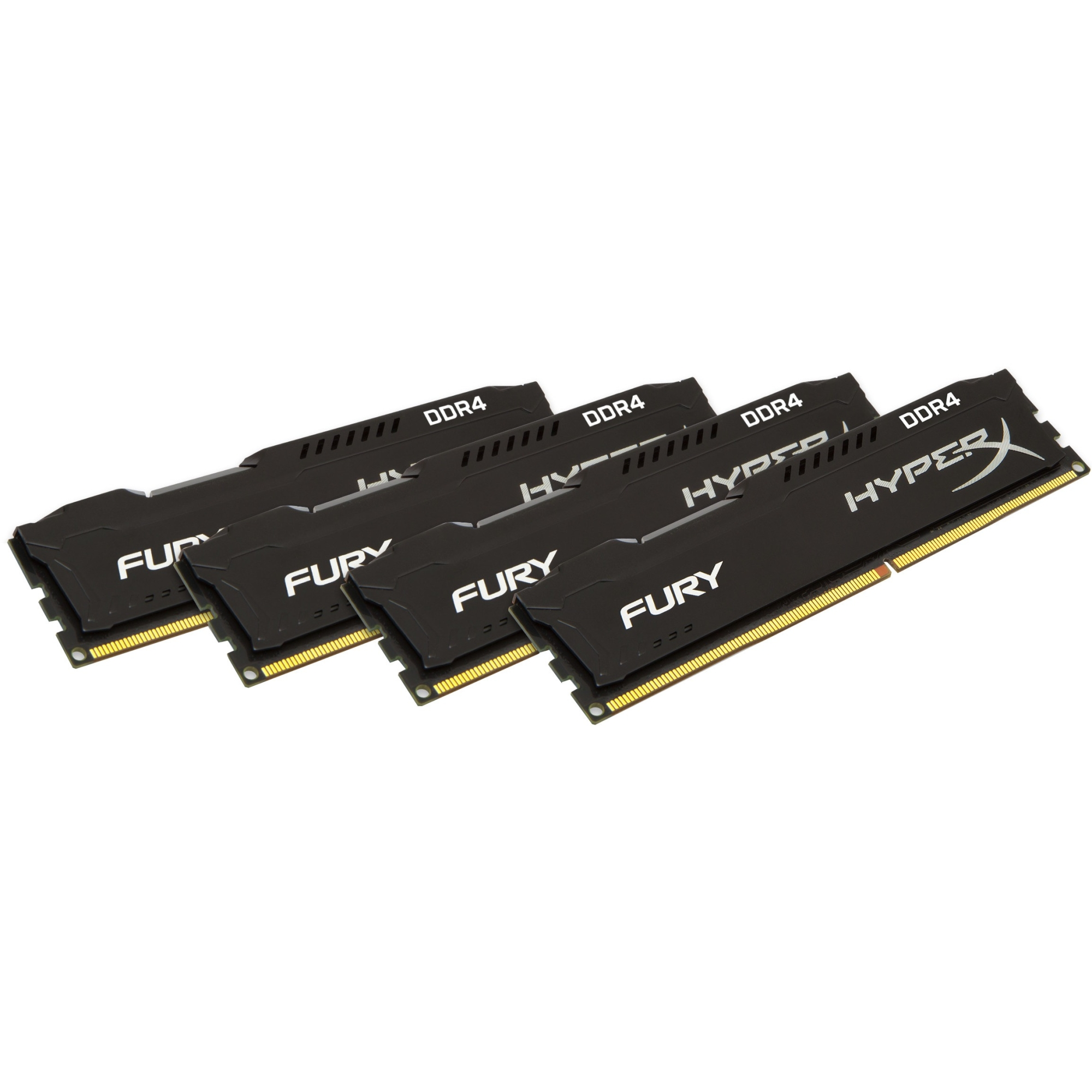 Kingston FURY Memory Black - 32GB Kit(4x8GB) - DDR4 2133MHz CL14 DIMM - 32 GB (4 x 8 GB) - DDR4 SDRAM - 2133 MHz - 1.2