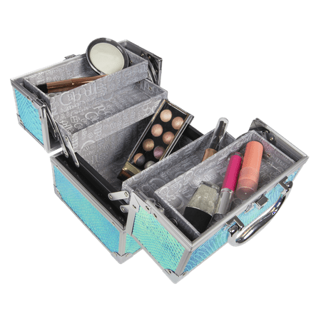 Caboodles Adored Cosmetic Train Case, Snakeskin Iridescent ()