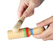 Colorful Wooden Crow Sounder Wood Guiro Kids Children Musical Toy Persussion Instrument