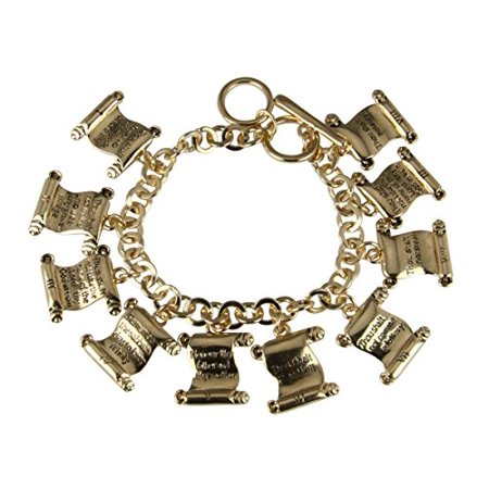 10 Ten Commandments Bracelet Charms Thou Shall Not Verse