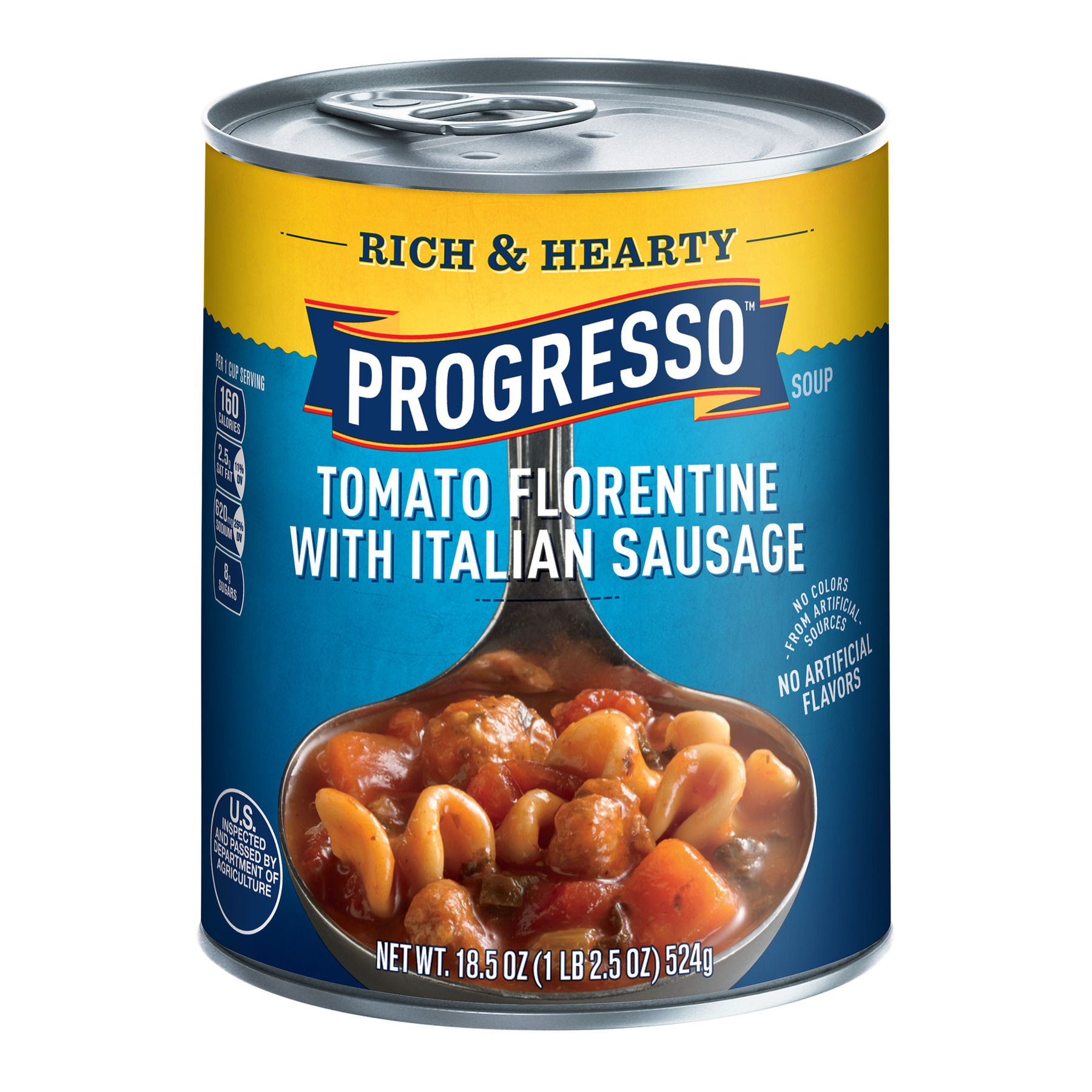Progresso Soup, Rich & Hearty, Tomato Florentine with Italian Sausage Soup, 18.5 oz Can