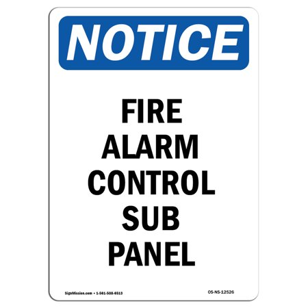 OSHA Notice Sign - Fire Alarm Control Sub Panel 7