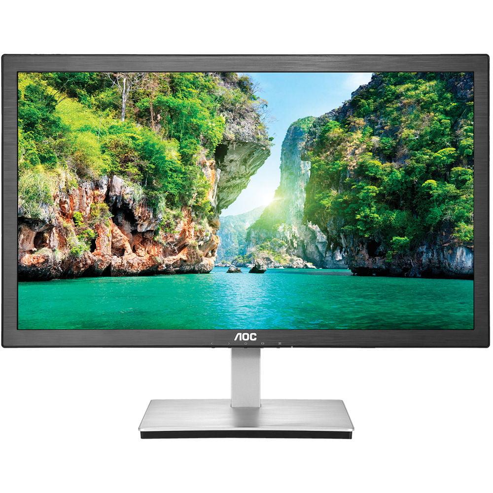 """Refurbished 23.6"""" AOC HDMI/VGA Ultra Slim Gaming Monitor 1080p Widescreen LED LCD"""
