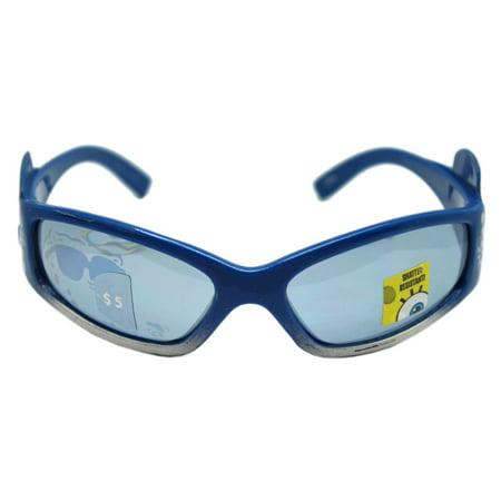 Spongebob Squarepants Blue/Silver Colored Kids Sunglasses - Spongebob With Sunglasses