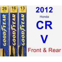 2012 Honda CR-V Wiper Blade Set/Kit (Front & Rear) (3 Blades) - Premium