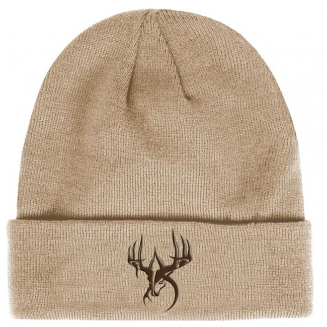 Fierce WG-BN-TB Wildgame Innovations Tan with Btrown logo knit beanie