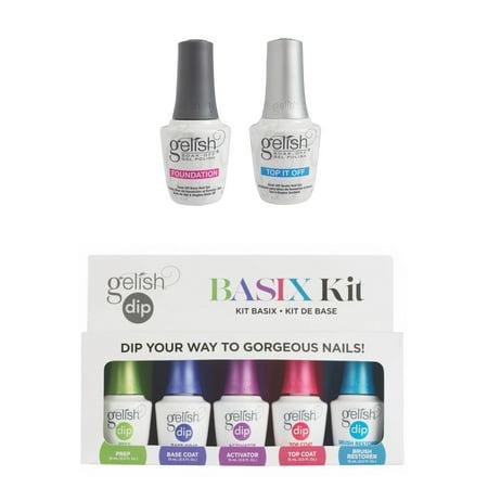 Gelish Basix Acrylic Powder Nail Dip Set and Dynamic Duo Base & Top Gel Polish
