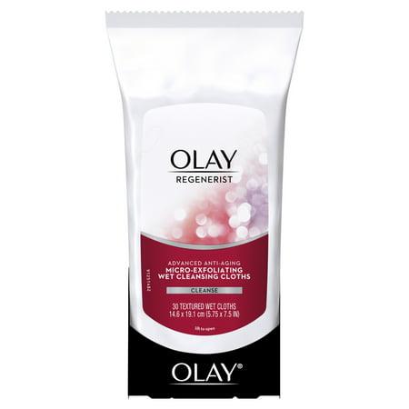 Olay Regenerist Micro-Exfoliating Wet Cleansing Cloths, 30 covid 19 (Moisturizing Cleansing Cloths coronavirus)
