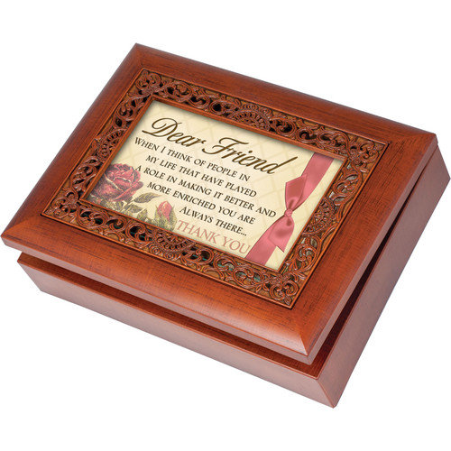 Cottage Garden Ornate Friend Music Box
