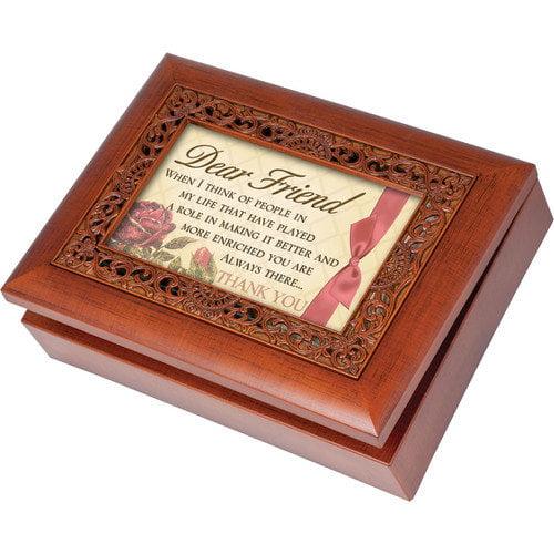Cottage Garden Ornate Friend Music Box