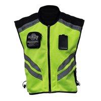 Sports Motorcycle Reflective Vest High Visibility Fluorescent Riding Safety Vest Racing Sleeveless Jacket Moto Gear (XXXL)