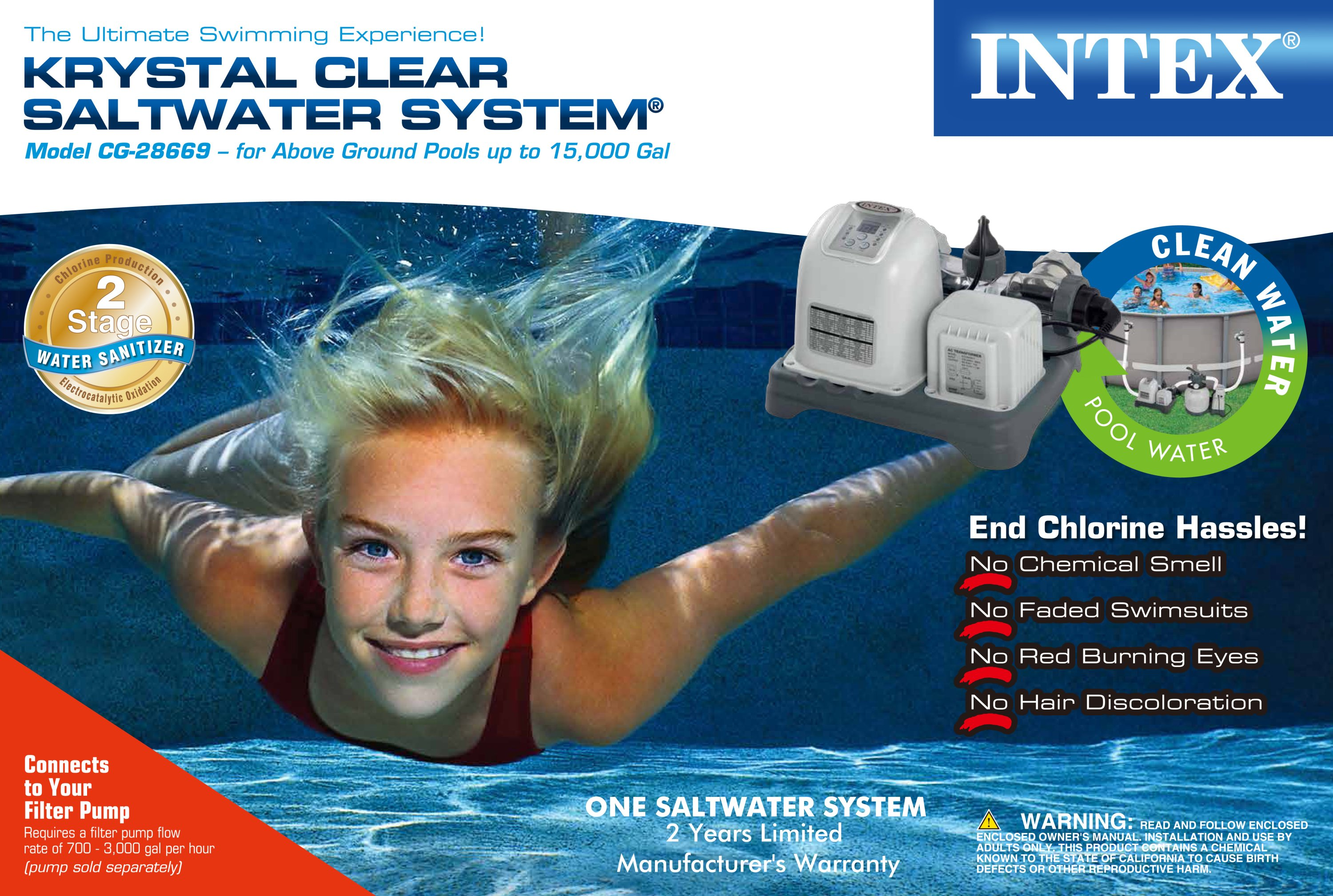 Intex Krystal Clear Saltwater System For Above Ground