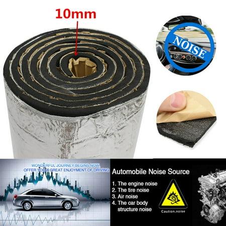 86sqft 10mm Sound Deadener Car Heat Shield Lightweight Thermal Insulation Deadening Material