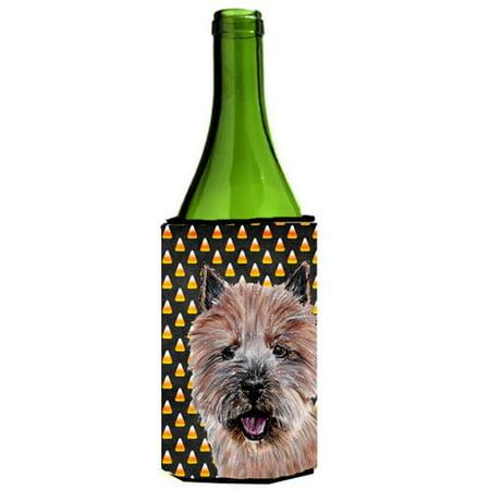 Carolines Treasures SC9662LITERK Norwich Terrier Candy Corn Halloween Wine bottle sleeve Hugger  24 Oz. - image 1 de 1