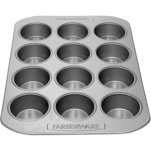 Farberware 12-Cavity Muffin Pan, Gray