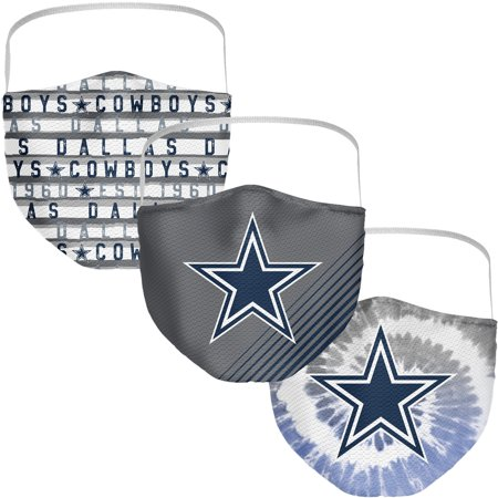 Dallas Cowboys Fanatics Branded Adult Face Covering 3-Pack
