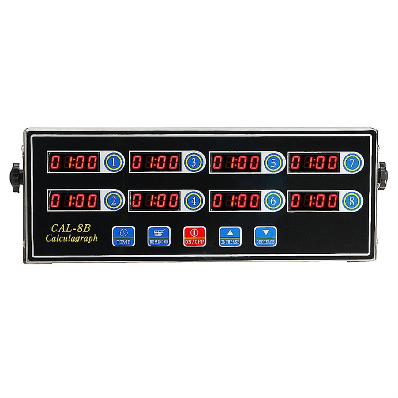 Restaurant Kitchen Timers beamnova cal-8b 8 channel digital kitchen timer clock reminder