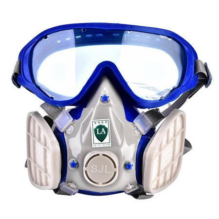 Full Face Respirator Mask Double Filter Air Breathing Dust
