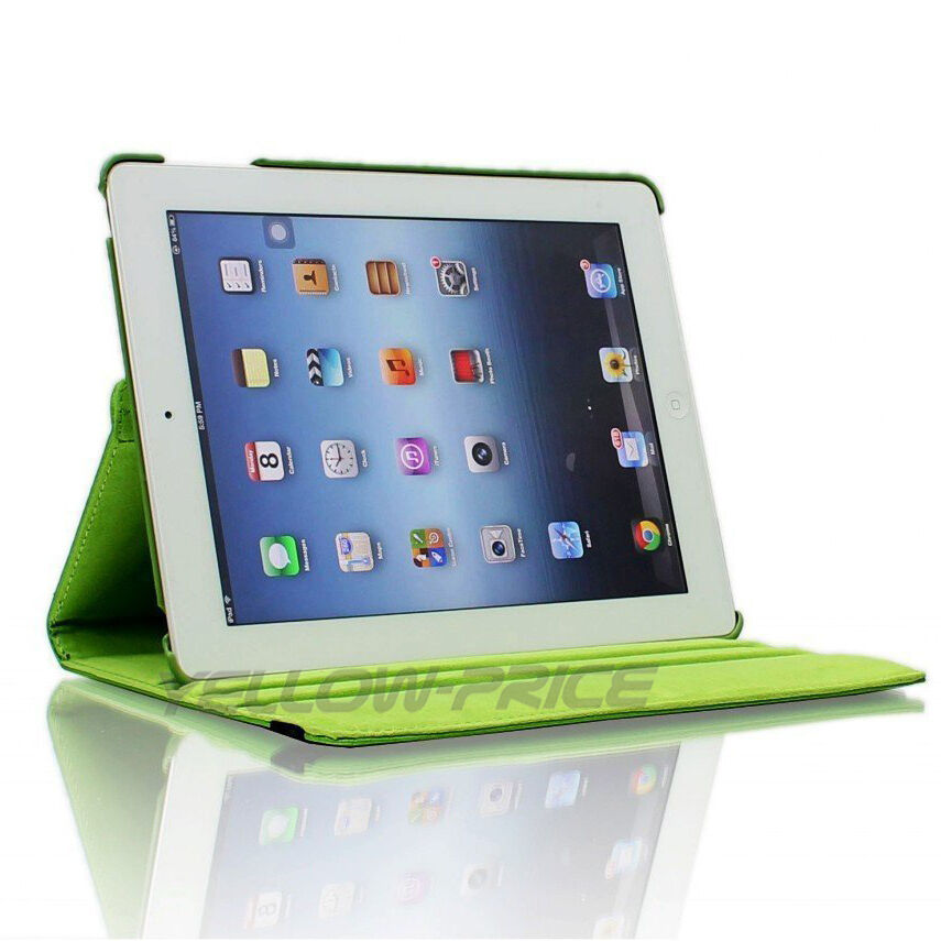 LivEditor 360-degree Swivel Leather Case Films for Apple® iPad® 2 / The new iPad® - Green - image 2 de 5