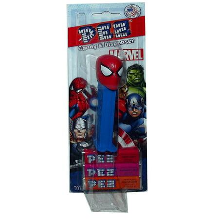 Marvel Avengers Pez Dispenser 3 Candy Filler (1 Each) (Spiderman) by Pez Candy ()
