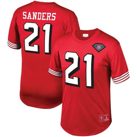buy popular b4e4b 990b2 Deion Sanders San Francisco 49ers Mitchell & Ness Mesh Retired Player Name  & Number Top - Scarlet