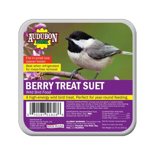 Global Harvest Foods 1844 Wild Bird Suet, Berry, 11.75-oz.