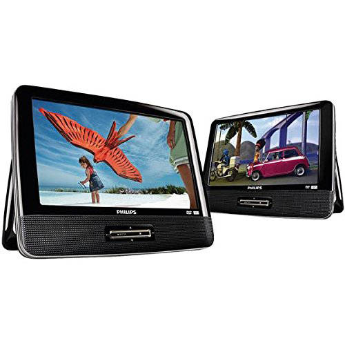 "Philips 9"" Dual-DVD Portable DVD Player (PD9016P/37S) Refurbished"