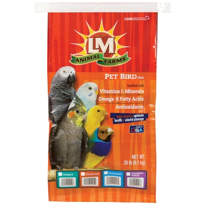 LM Animal Farms SLM12212 Natural Parrot Diet Food, 20 lb