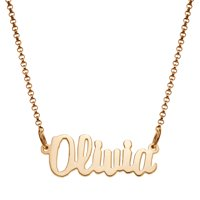 Personalized Women's Mini Nameplate Necklace