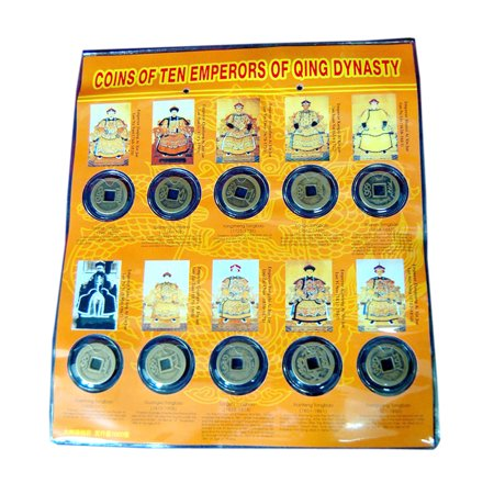 Jademarket Hongkong Old Bronze Coins from 10 Different Emperors (Old Bronze Coin)