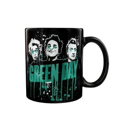 Rock Mug Music - Green Day Drips Coffee Mug 12 oz. Ceramic Punk Rock Alternative Music Tea