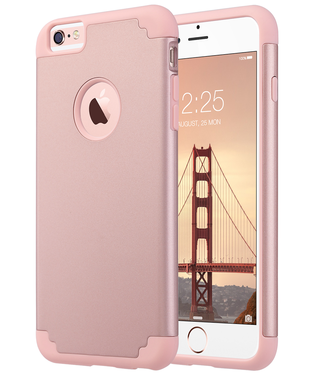 iPhone 6 Plus Case, iPhone 6S Plus Case, ULAK Slim Dual Layer Protective Case Fit for Apple iPhone 6 Plus (2014) / 6S Plus(2015) 5.5 inch Hybrid Hard Back Cover and Soft Silicone