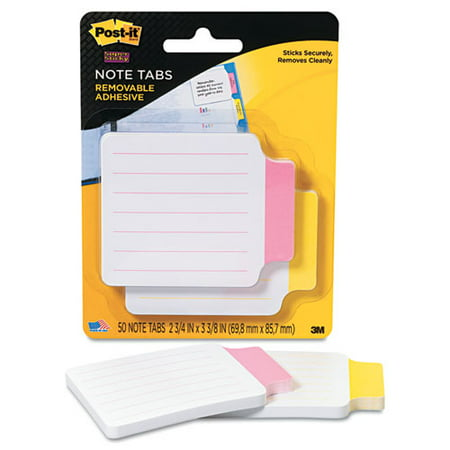 Post-it Note Tab - 1 / Pack - Red, Yellow Tab (2200RY)