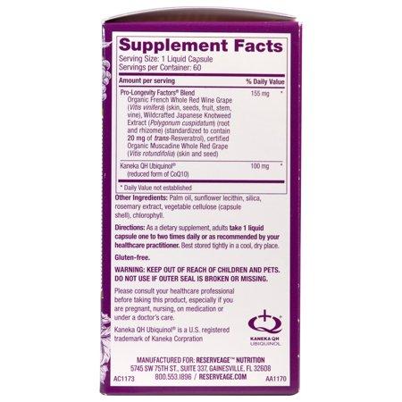Best ReserveAge Nutrition  Active Ubiquinol CoQ10  with Resveratrol  60 Liquid Capsules deal
