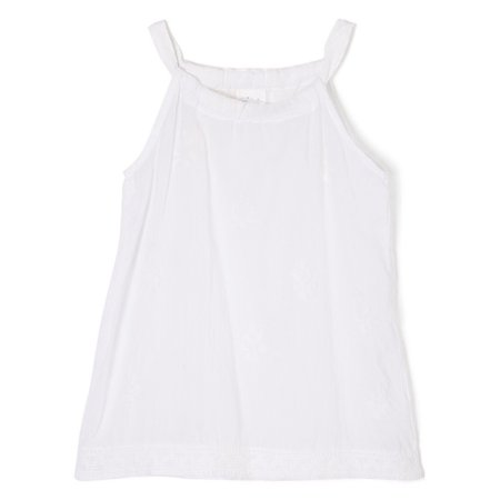 Renaissance Tunic (Azul Little Girls White Solid Color Renaissance Sleeveless)
