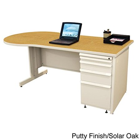 Zapf Teachers Computer Desk Laminate Color: Solar Oak, Finish: Featherstone