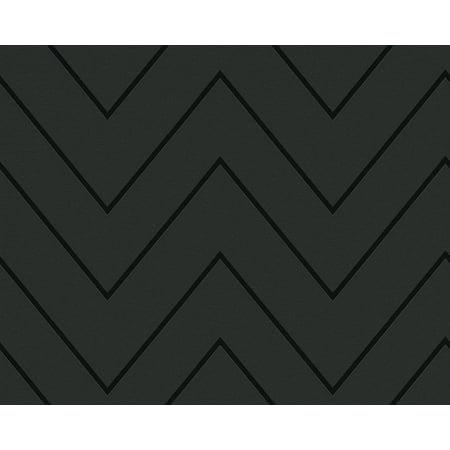 Black & White 2 - Modern Crazy Stripes Circles Design Grey Wallpaper Roll Stripe Wallpaper Design