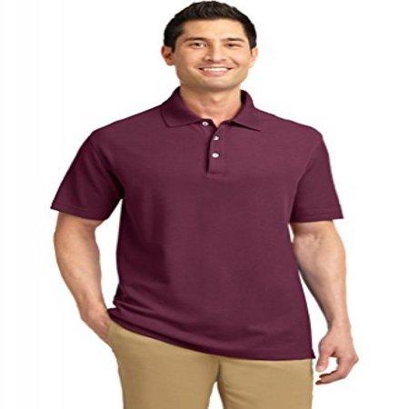 Big Mens Pique Knit Sport Shirt