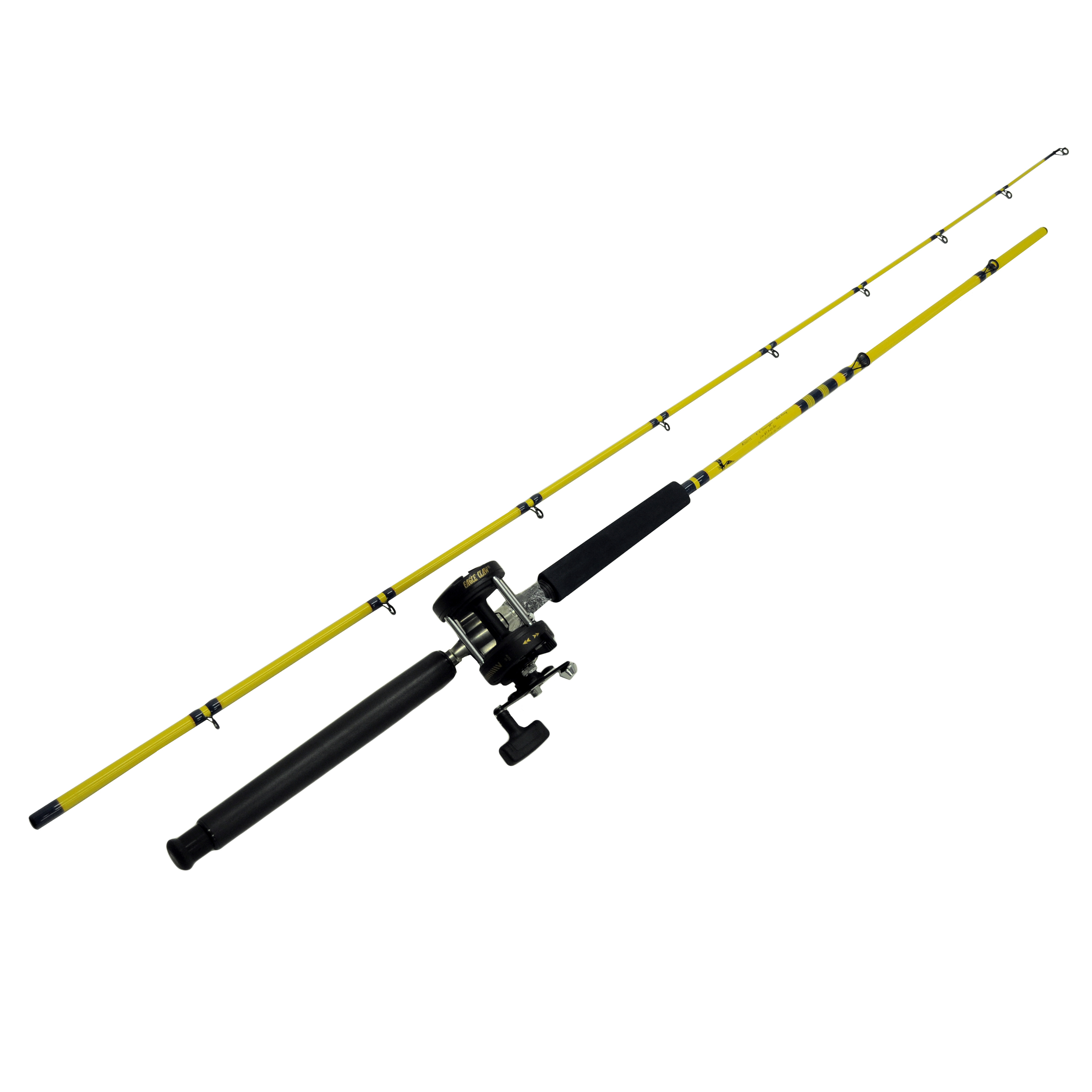 Eagle Claw TrollCombo Rod/reel 2pc 8'6 LevelWndGlass