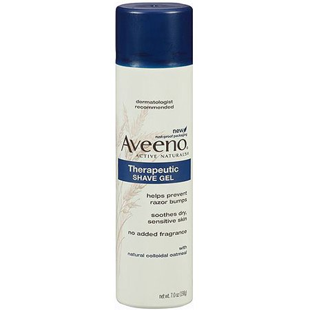 Aveeno Therapeutic Shave Gel To Reduce The Incidence Of Razor Bumps  7 Oz