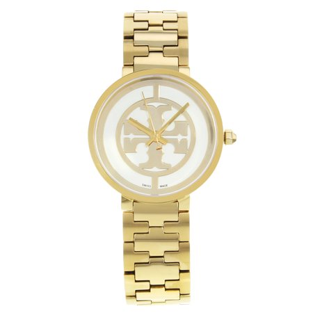 Pre-Owned Tory Burch Reva Gold Ion Plated Steel Quartz Ladies Watch TB4025 ()