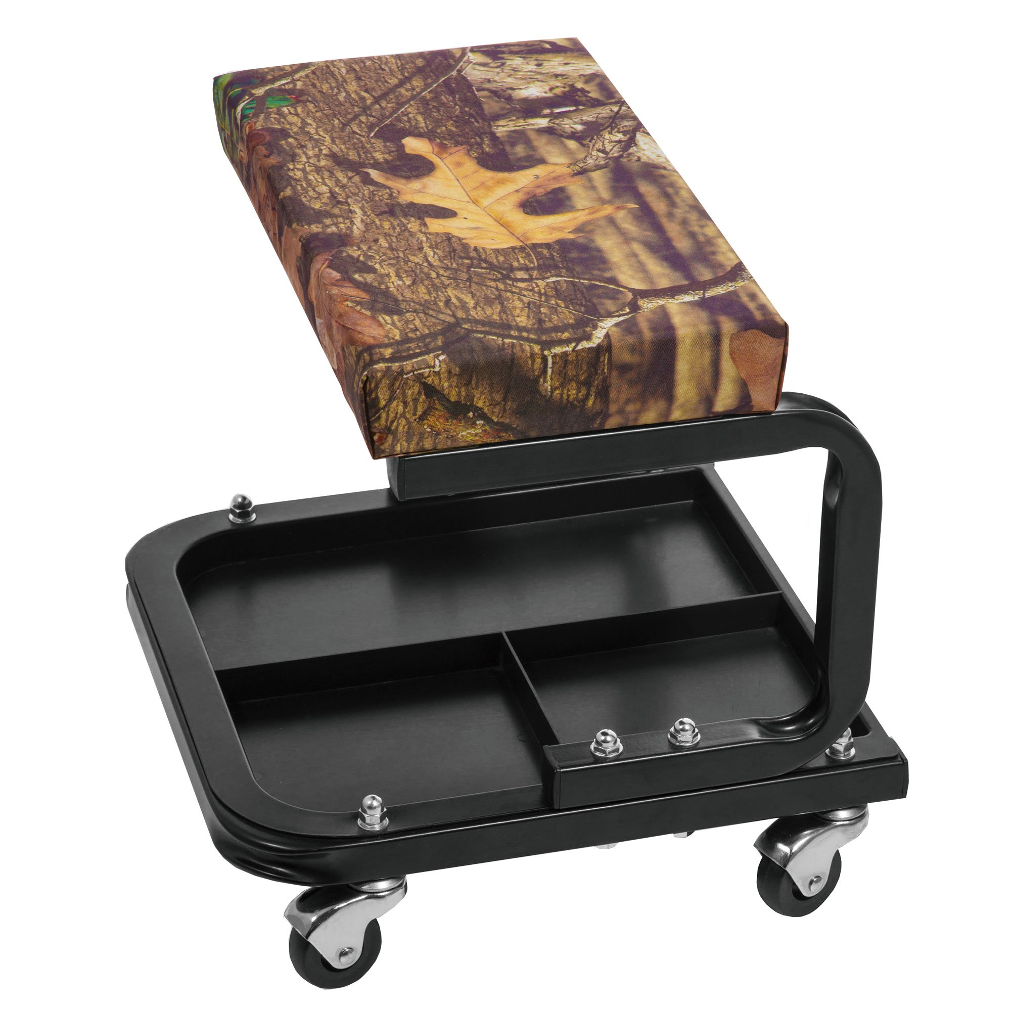 Torin Mossy Oak Rolling Pneumatic Creeper Garage Shop Mechanic Padded Seat Stool
