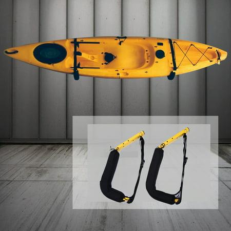 Kayak Wall Hanger >> 100 Lbs Kayak Rack Outdoor Sports Canoe Sup Surfboard Wall Mount