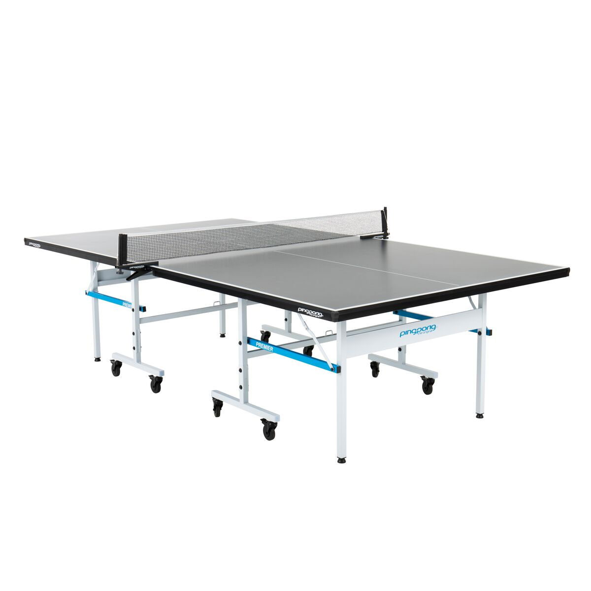 Ping Pong Premier Indoor Sport Regulation Size Ping Pong Folding Game Table by Ping-Pong