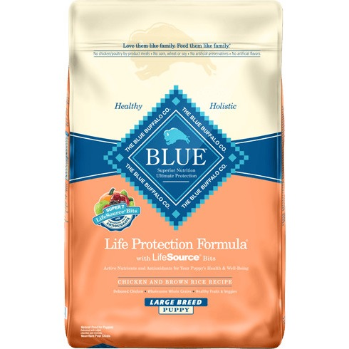 Blue Life Protection Formula Chicken and Brown Rice Recipe For Large Breed Puppies