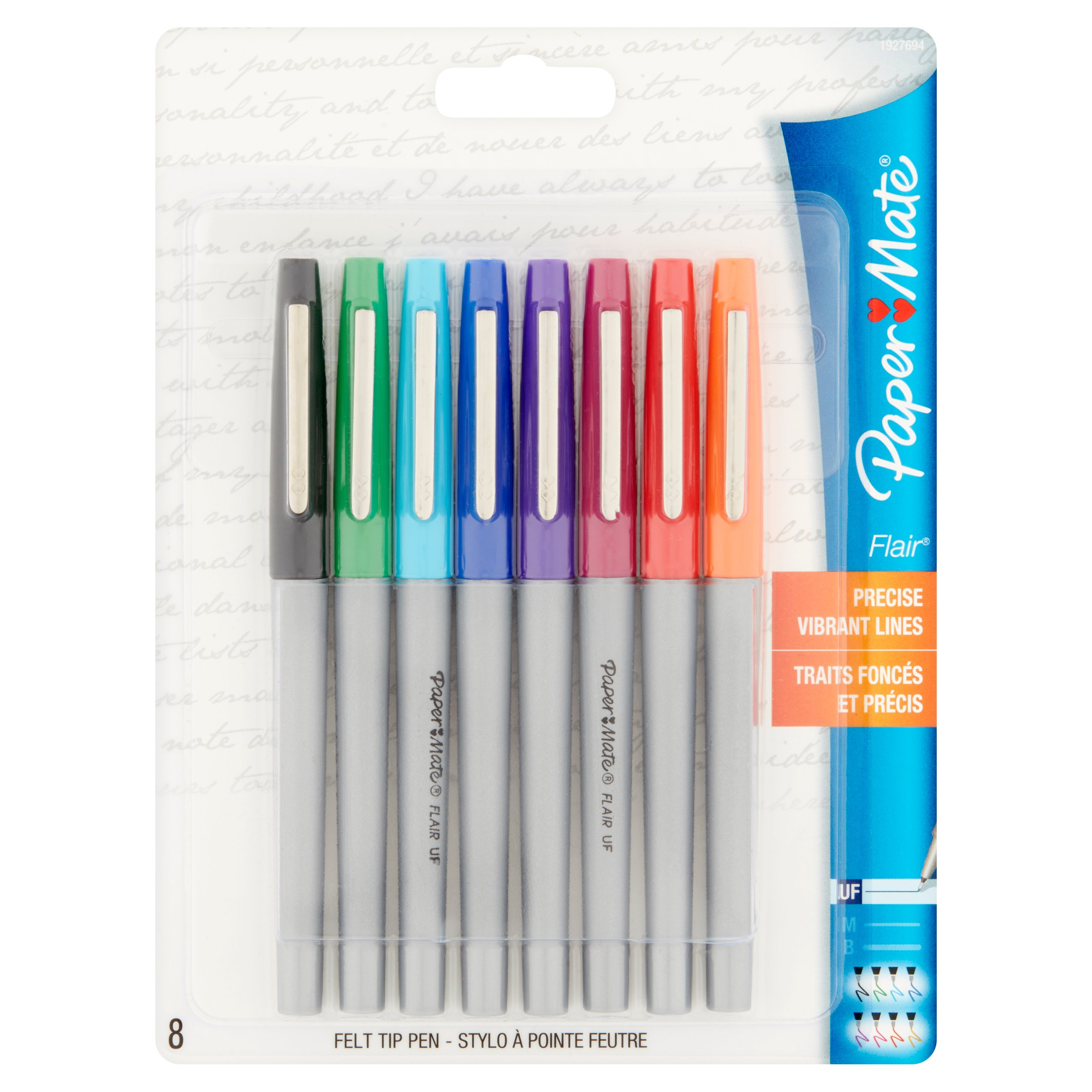 Paper Mate Flair Felt Tip Pen, 8 count