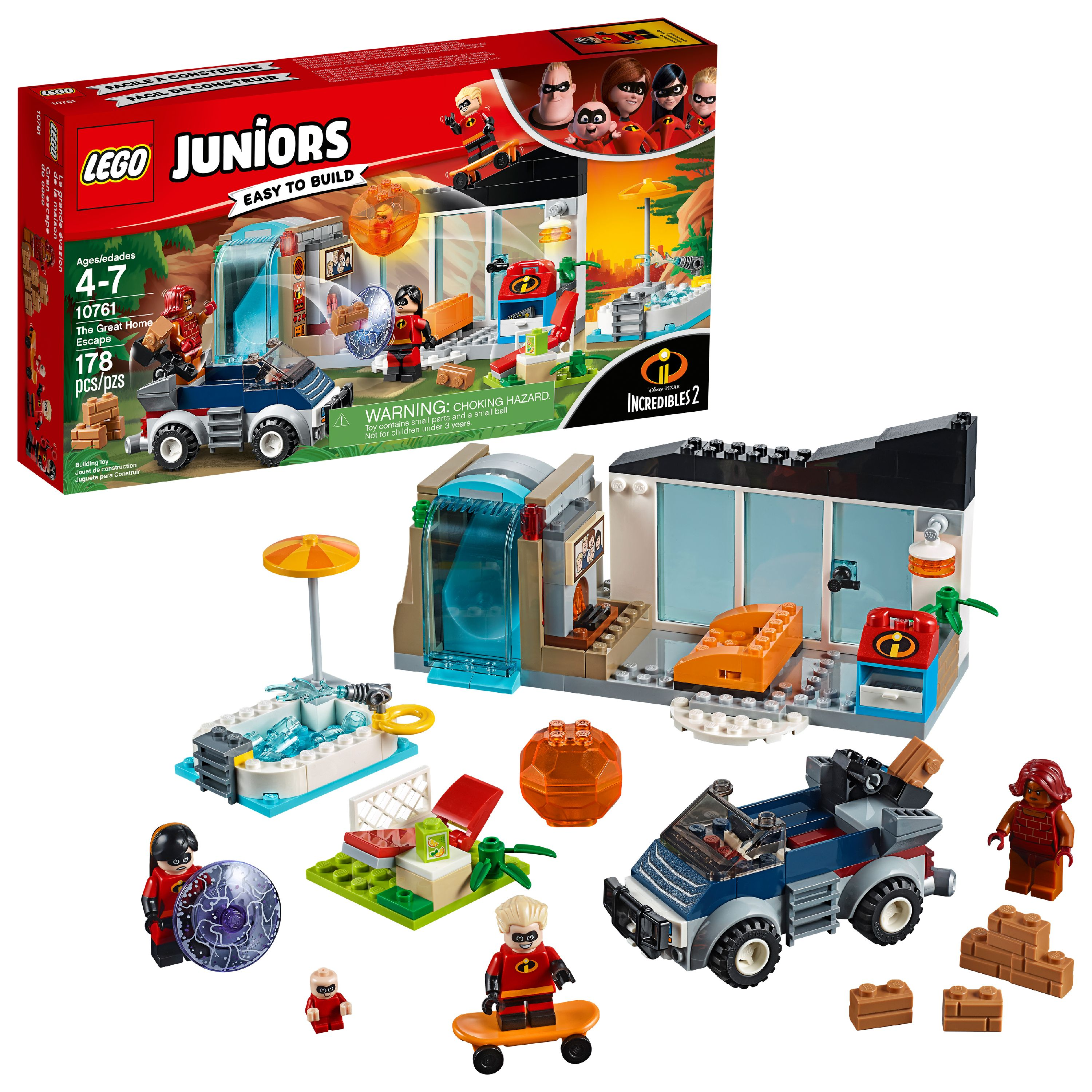 LEGO Juniors Incredibles 2 The Great Home Escape 10761 (178 Pieces)