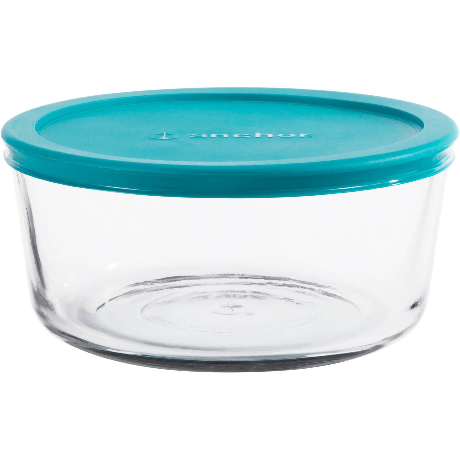 Anchor Hocking 7 Cup Round Food Storage Container with Teal Lid